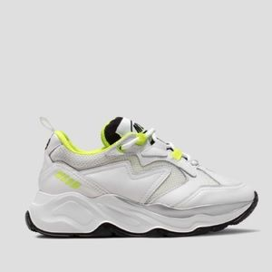 ATTACK SNEAKER WITH FLUORESCENT DETAILS MSGM